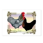 Black SL Chickens Postcards (Package of 8)