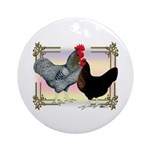 Black SL Chickens Ornament (Round)