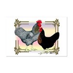 Black SL Chickens Mini Poster Print