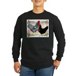 Black SL Chickens Long Sleeve Dark T-Shirt