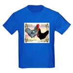 Black SL Chickens Kids Dark T-Shirt