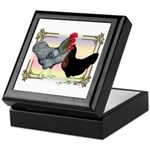 Black SL Chickens Keepsake Box