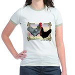 Black SL Chickens Jr. Ringer T-Shirt