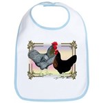 Black SL Chickens Bib