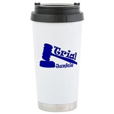 Trial Junkie (blue) Travel Mug