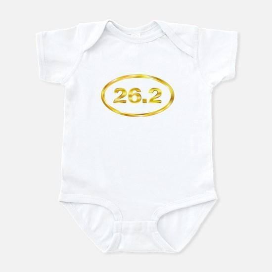 26.2 Gold Marathon Oval Infant Bodysuit