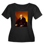 Bertin Women's Plus Size Scoop Neck Dark T-Shirt