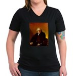 Bertin Women's V-Neck Dark T-Shirt