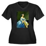 Bearn Women's Plus Size V-Neck Dark T-Shirt