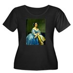 Bearn Women's Plus Size Scoop Neck Dark T-Shirt