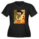 Hope Women's Plus Size V-Neck Dark T-Shirt