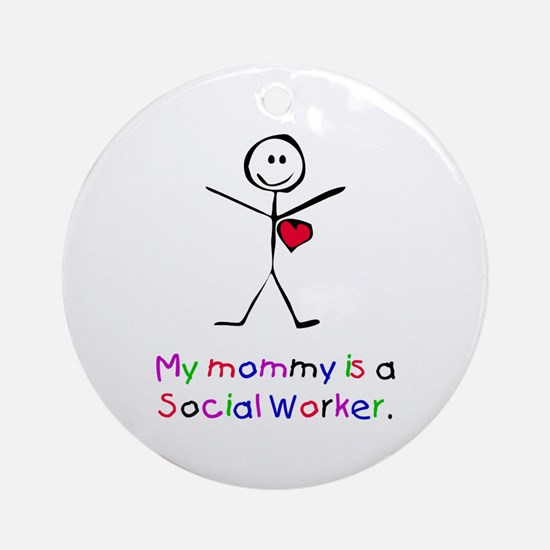 My Mommy is a SW Ornament (Round)
