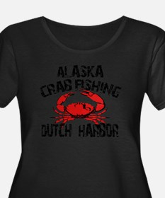 Dutch Harbor Alaska CRAB Fishing Plus Size T-Shirt