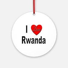 I Love Rwanda Africa Ornament (Round)