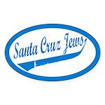 Santa Cruz Jews Uniform-style Oval Sticker