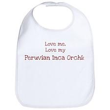 Love my Peruvian Inca Orchid Bib
