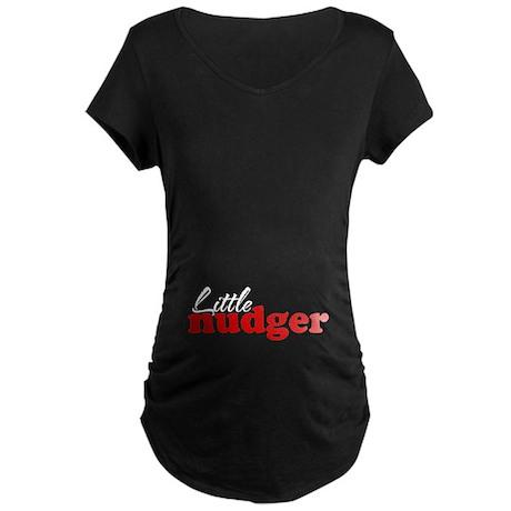 Litlle Nudger (plain) Maternity Dark T-Shirt