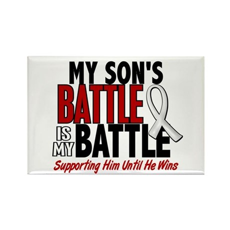My Battle Too 1 PEARL WHITE (Son) Rectangle Magnet