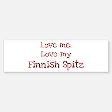Love my Finnish Spitz Bumper Bumper Bumper Sticker