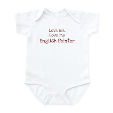 Love my English Pointer Infant Bodysuit