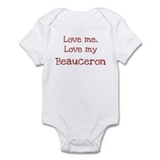 Love my Beauceron Infant Bodysuit