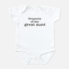 Property of great aunt Infant Bodysuit