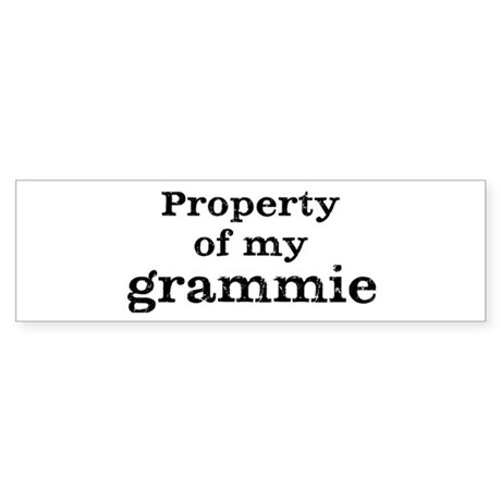 Property of grammie Bumper Sticker (50 pk)