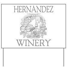 Hernandez Last Name Vintage Winery Yard Sign