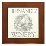 Hernandez winery Framed Tiles