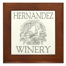 Hernandez Last Name Vintage Winery Framed Tile