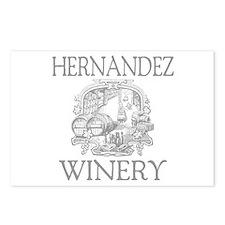 Hernandez Last Name Vintage Winery Postcards (Pack