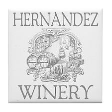 Hernandez Last Name Vintage Winery Tile Coaster
