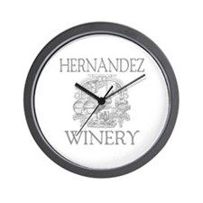Hernandez Last Name Vintage Winery Wall Clock