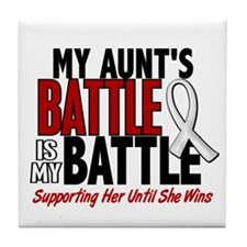 My Battle Too 1 PEARL WHITE (Aunt) Tile Coaster