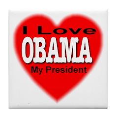I Love OBAMA Tile Coaster