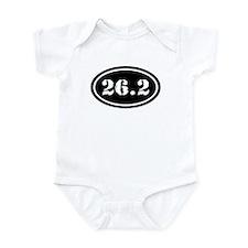 26.2 Oval Marathon Runner Infant Bodysuit