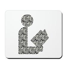 Zebra Stripes Library Logo Mousepad
