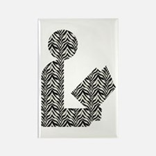 Zebra Stripes Library Logo Rectangle Magnet