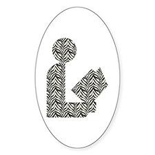 Zebra Stripes Library Logo Oval Decal