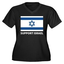 Support Israel Women's Plus Size V-Neck Dark T-Shi