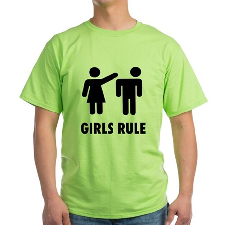 Girls Rule Green T-Shirt
