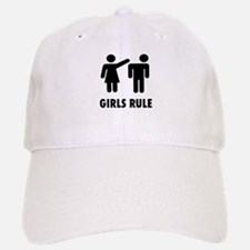 Girls Rule Baseball Baseball Cap