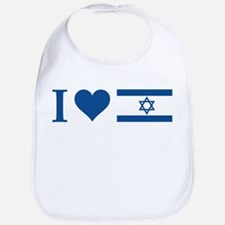 I Heart Israel Bib