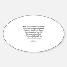 ACTS 1:4 Oval Decal