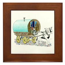 Gypsy Wagon Framed Tile