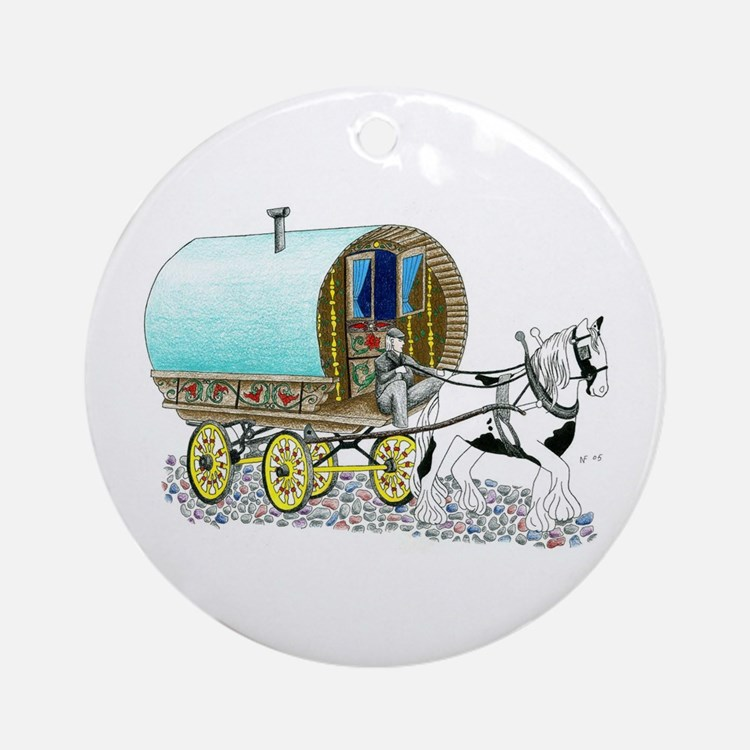 Gypsy Wagon Ornament (Round)