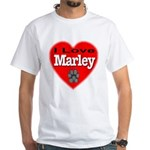 I Love Marley White T-Shirt
