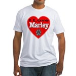 I Love Marley Fitted T-Shirt