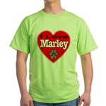 I Love Marley Green T-Shirt