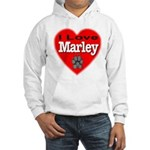 I Love Marley Hooded Sweatshirt